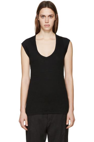 Isabel Marant Etoile - Black Linen Kenton T-Shirt