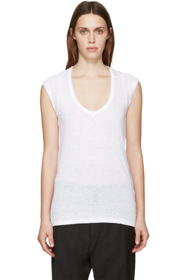 Isabel Marant Etoile - White Linen Kenton T-Shirt