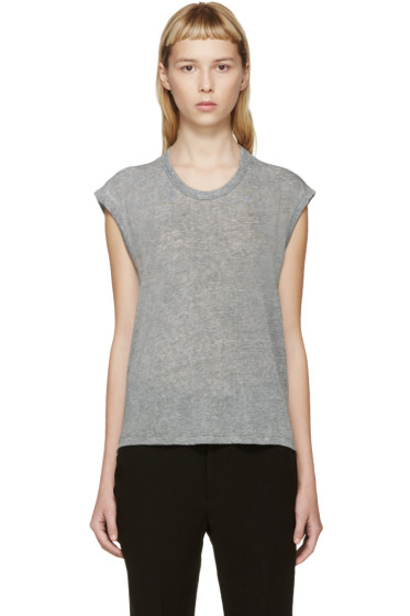 Isabel Marant Etoile - Grey Dobson Muscle T-Shirt