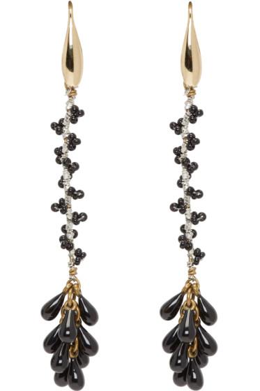 Isabel Marant - Black Tanger Drop Earrings