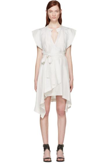 Isabel Marant - Grey Silk Lief Wrap Dress