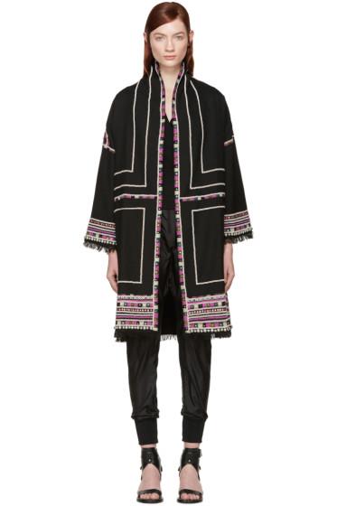 Isabel Marant - Black Embellished Brayton Coat