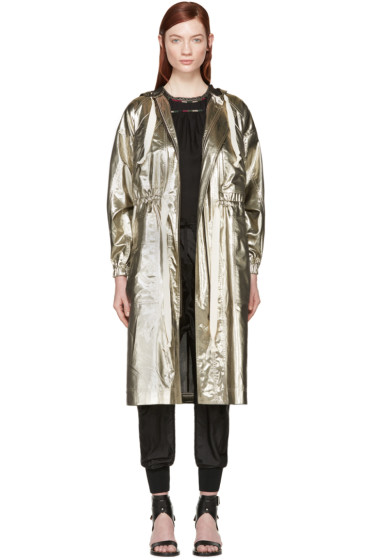 Isabel Marant - Gold Silk Namilc Coat