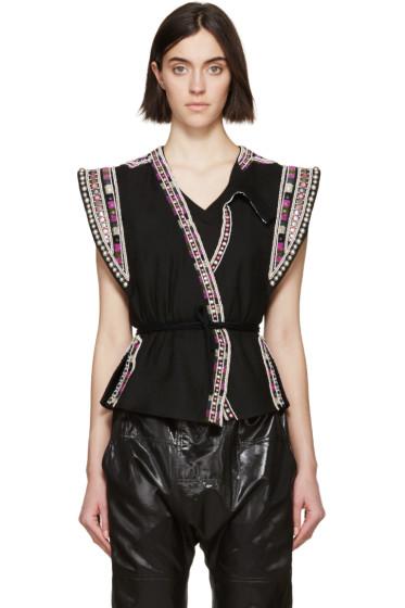 Isabel Marant - Black Embellished Blaine Vest