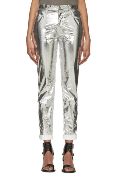Isabel Marant - Silver Metallic Jada Trousers