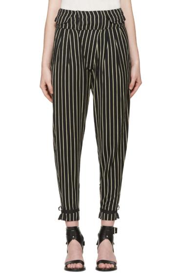 Isabel Marant - Black & Beige Rodrys Trousers