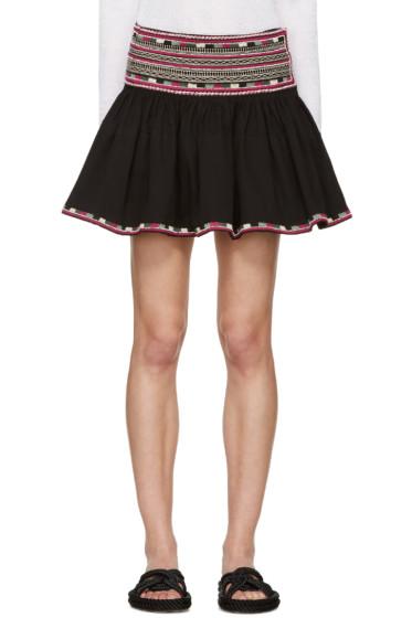 Isabel Marant - Black Embroidered Saxon Miniskirt