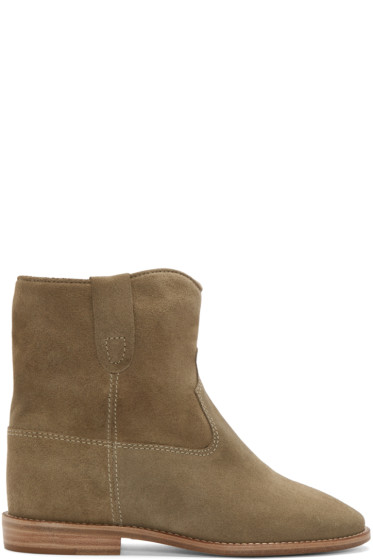 Isabel Marant - Green Suede Crisi Boots