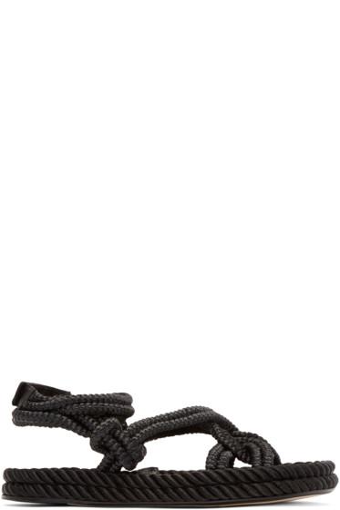 Isabel Marant - Black Lou Twisted Rope Sandals