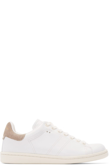 Isabel Marant - White Leather Bart Sneakers