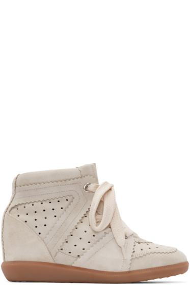 Isabel Marant - Grey Suede Bobby Wedge Sneaker