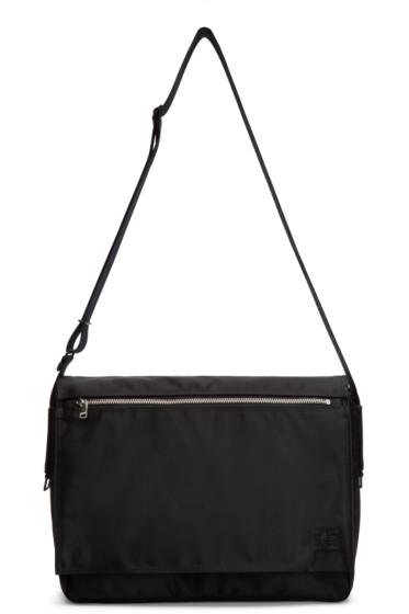 Porter - Black Nylon Lift Messenger Bag