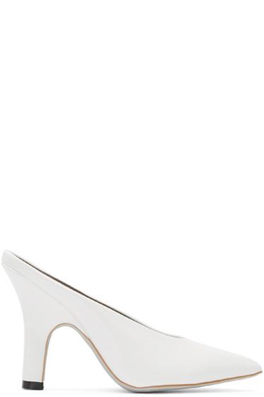 Amélie Pichard - White Patent Pamela Anderson Edition Mules
