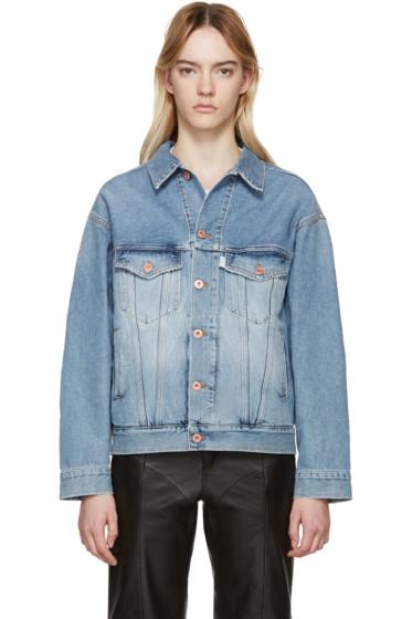 Off-White - Blue Oversized Denim Jacket