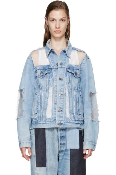 Off-White - Blue Denim Skeleton Levi's Edition Jacket