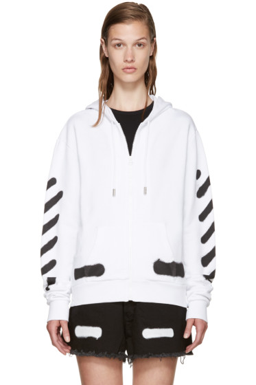 Off-White - White Spray Paint Hoodie
