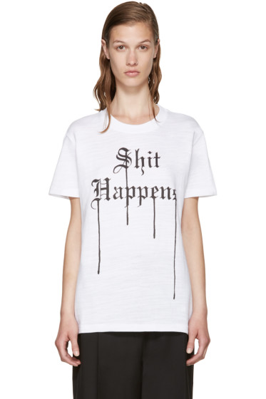 "Off-White - White ""Shit Happens"" T-Shirt"