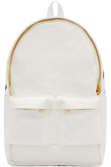 Off-White - White Canvas Backpack