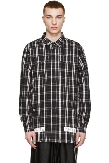 Off-White - Black & White Flannel Check Shirt