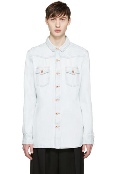 Off-White - Blue Denim Bleach Shirt