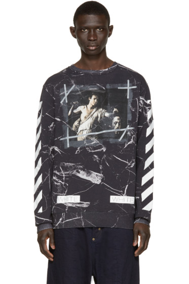 Off-White - Black Marble Pullover