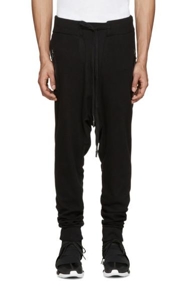 11 by Boris Bidjan Saberi - Black Knit Lounge Pants