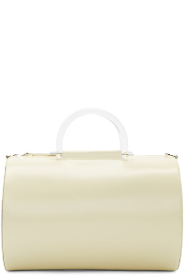 Building Block - Ivory Cylinder Duffle Bag