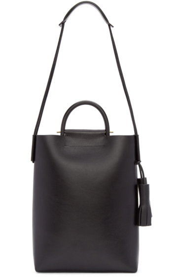 Building Block - Black Leather Business Tote