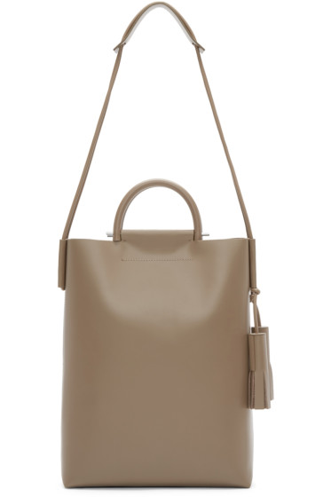 Building Block - Taupe Leather Business Tote