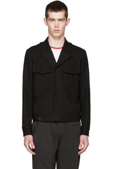 Johnlawrencesullivan - Black Cropped Military Jacket
