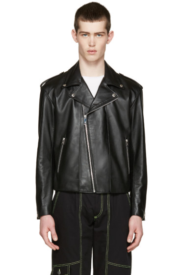 Johnlawrencesullivan - Black Leather Layered Jacket