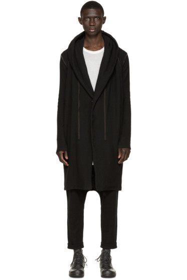 Nude:mm - Black Knit Parka Coat