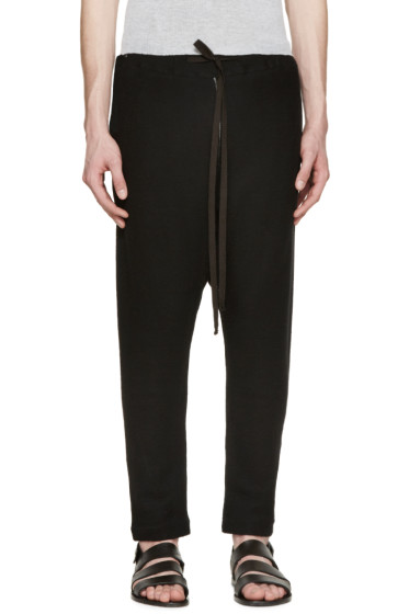 Nude:mm - Black Knit Sarouel Lounge Pants