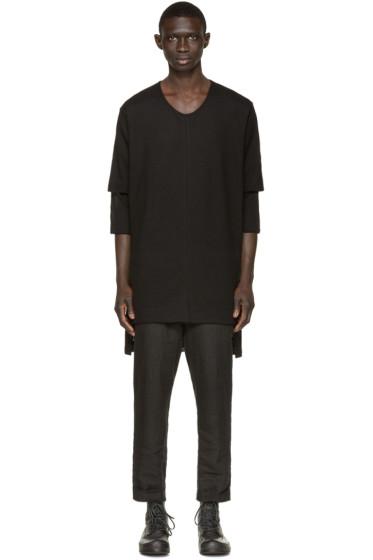 Nude:mm - Black Layered T-Shirt