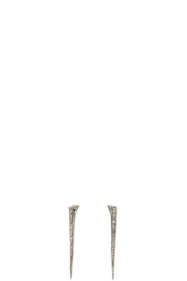 Pearls Before Swine - Silver Thorn Earrings