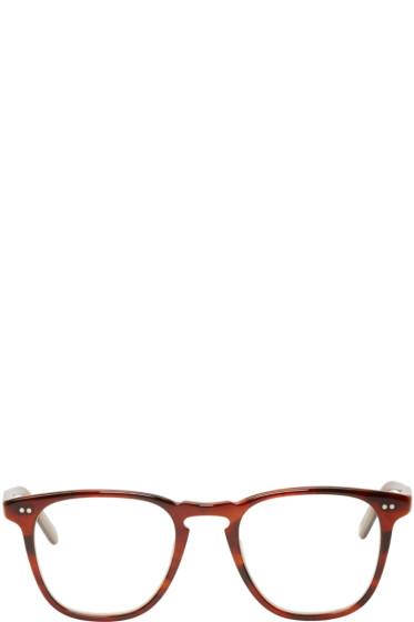Garrett Leight - Tortoiseshell Clip-On Brooks Optical Glasses