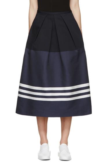 Jil Sander Navy - Navy Bold Stripe Skirt