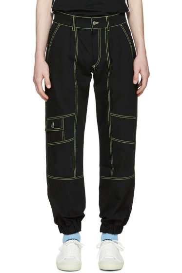 Gosha Rubchinskiy - Black Contrast Cargo Jeans