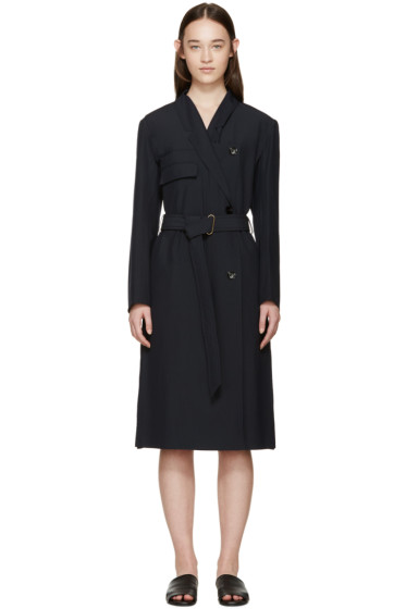 Lemaire - Navy Cotton Trench Dress