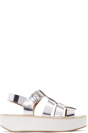 Flamingos - Silver Metallic Leather Citrus Sandals