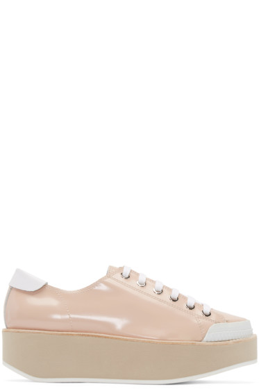 Flamingos - Pink Patent Leather Tatum Sneakers