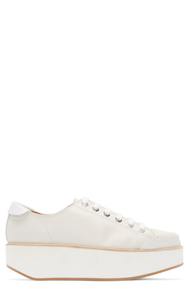 Flamingos - Ecru Leather Tatum Sneakers