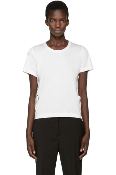 Noir Kei Ninomiya - White Silk Ribbon T-Shirt