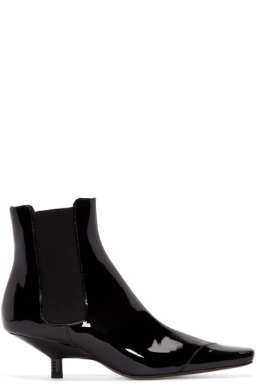Loewe - Black Patent Leather Chelsea Boots