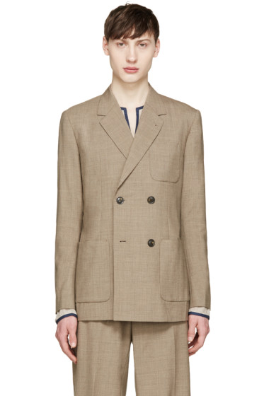 Toga Virilis - Brown Wool Double-Breasted Blazer