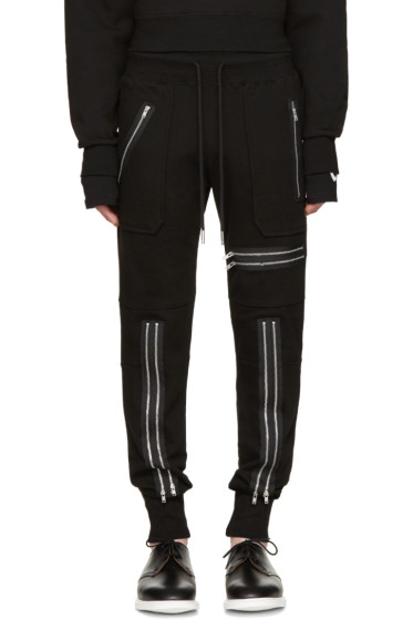 99% IS - Black Zip Lounge Pants