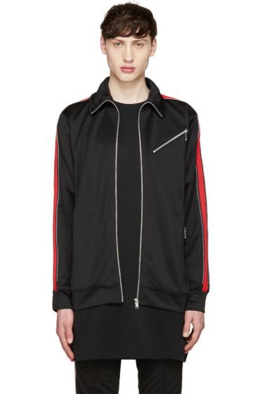 99% IS - Black & Red Track Zip Jacket