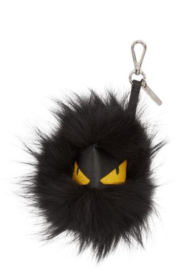 Fendi - Black & Yellow Monster Keychain