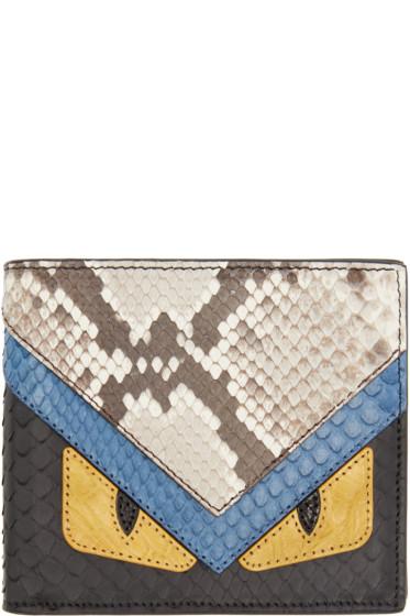 Fendi - Multicolor Leather Monster Wallet