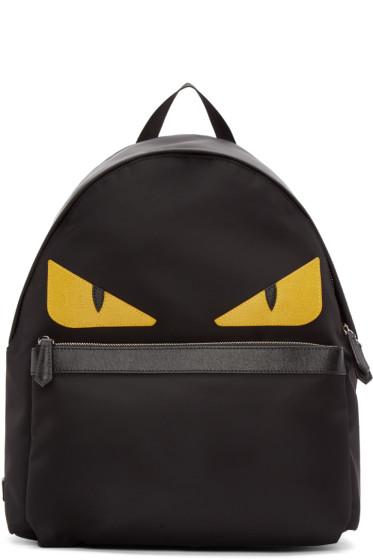 Fendi - Black Nylon Monster Backpack
